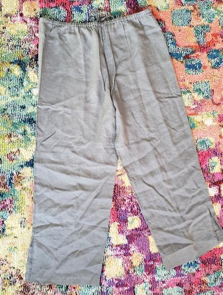 Eileen Fisher Irish Linen flowy pants